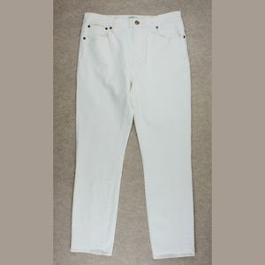 New JCREW Straightaway Jeans in Ecru Ivory